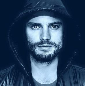 Jamie in a hoodie