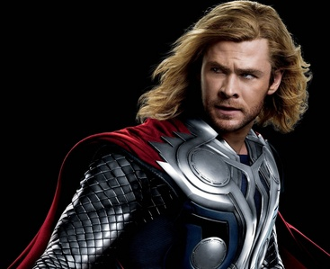 as Thor he had to have long hair,but now that his days as Thor are at an END,he's gone back to his short hair