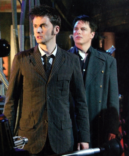 David and John in Doctor Who as The Doctor and Captain Jack Harkness !
