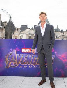 Chris in London promoting Avengers Endgame