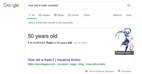 Okay listen im sorry like really but....we all thought kaito was 20 and it used to say he was but......KAITO IS 50 (yes he is that 50 년 old that sings about ice cream) sorry guys have a nice 일 thinking about magnet w/ miku (she is 16 lol)