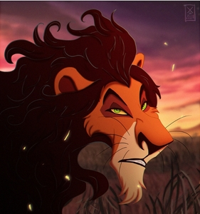 For me it's scar he's so smart such a genius so very elegant and he's a sexy beast and the gorgeous black hair and it's even styled (for some reason) and I just amor green eyes and that sassy attitude turns me on But the eyebrows.. PERFECT