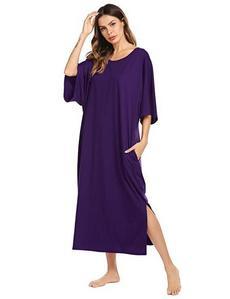 Comfortable nightshirt and short sleeves always. I hate long sleeves. (And purple is always nice!) *This isn't me, btw! *lol!*