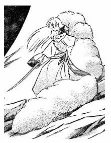 Sesshomaru has a tail ou mokomoko?