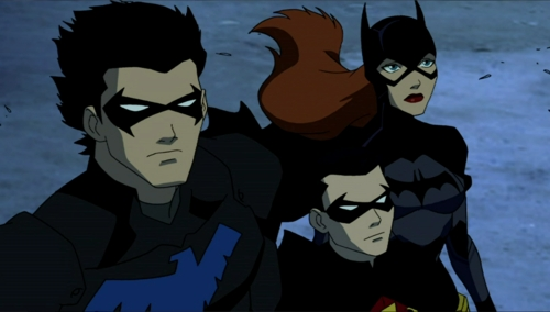 When did Barbara Gordon ( batgirl ) first meet Dick Grayson ( Nightwing ) '' On young justice '' <<<<
