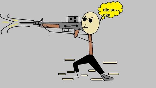 machine gun drawing images
