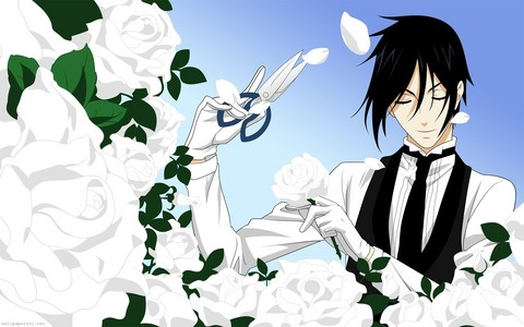 Post a Anime character with roses.