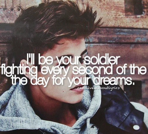 Post a picture of a singer who has acted with song lyrics on the picture.