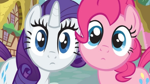 how long can you last rarity's and pinkie pie's staring ? it's a staring contest