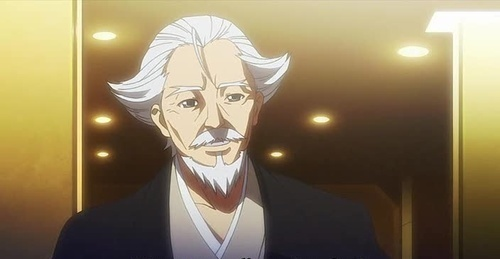 Post a picture of an アニメ character that is a Elderly Man.