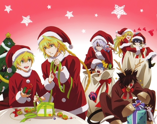 11th day of christmas post anime characters with christmas presents