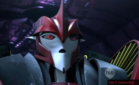 Does Knockout (from Transformers Prime) have a goatee?