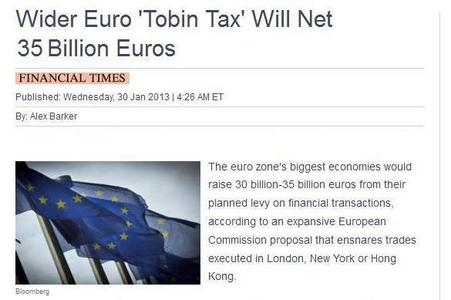 35 billion from new tax on High-Speed Electronic Trading