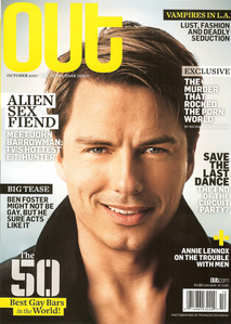 Post a picture of an actor on a magazine.