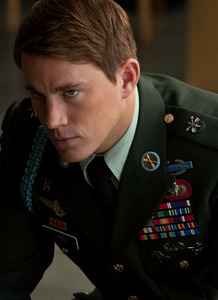 Post a pic of an actor in a military uniform.It can be any branch of the military(i.e Navy,Army,Marine,etc).There were no pics of my Robert in a military uniform,so I am posting a pic of Channing Tatum.