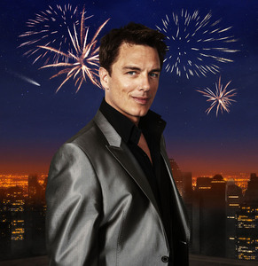 Post a picture of an actor with fireworks.