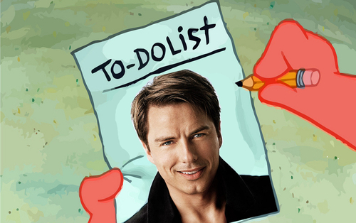 Post a picture of an actor with a To Do list.