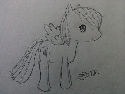 I made a drawing of pelangi, rainbow Dash, please give me helpful feedback?