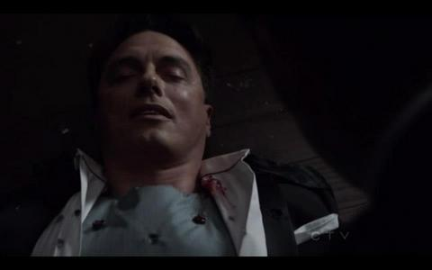 Post a picture of an actor with blood.