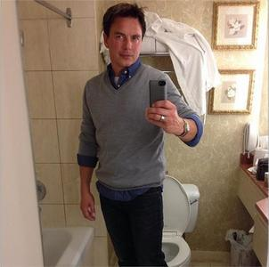 Post a picture of an actor with a toilet.