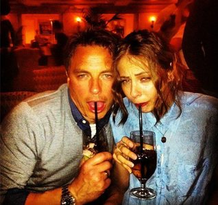 Post a picture of an actor doing a drunk face.