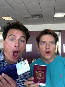 Post a picture of an actor with a passport.
