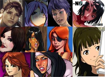 Post a Female western cartoon, anime, hentai, original characters or Video game character with a visible mole 'above the lips or on cheeks'