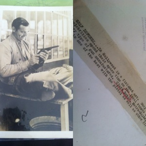 i have an Authentic Photo of Clark Gable Dated April 19 1935 its a Sepia Color Clark is holding his Gun and smiling... Not sure the worth on it. If interested contact me!
