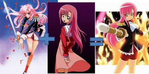 Post an old-school anime character and a new-school anime character that are similar.