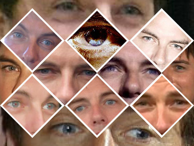 Post a picture of an actor tonen just his eyes.