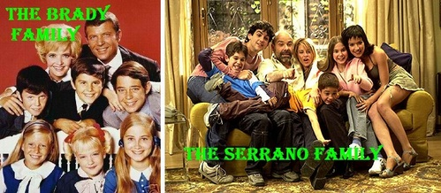 "Do u think that ""Los Serrano"" looks a bit like ""The Brady Bunch""?"