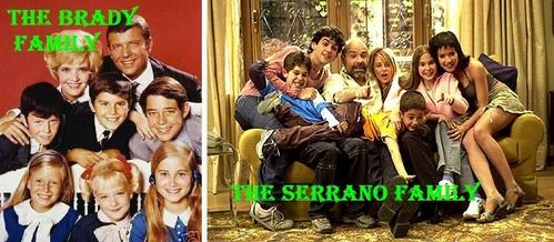 "Do tu think that ""Los Serrano"" looks a bit like ""The Brady Bunch""?"