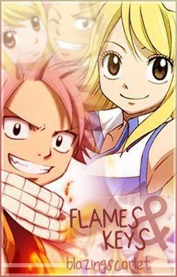 Post a pic of nalu Flames and Keys atau Natsu/Lucy magic power.