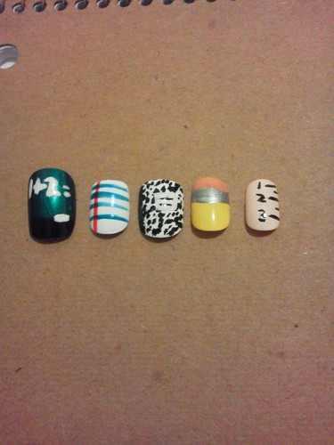 Do u like my back 2 school nail art???