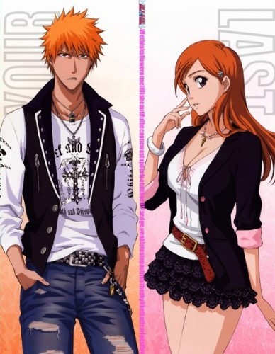 post an 日本动漫 couple with the same colour of hair