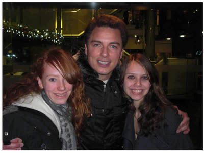 Post a picture of an actor with fans.