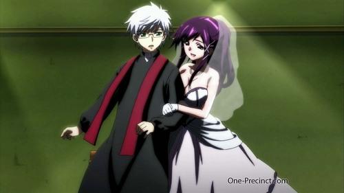 post an animé character in a wedding dress