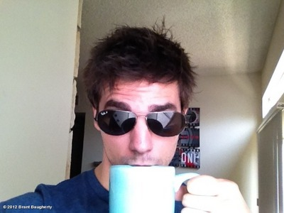 Post a picture of an actor with a cup.