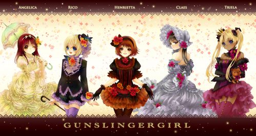 What your paborito anime girl with mga baril in dress