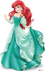 I've seen Ariel from the little mermaid in a green dress ...
