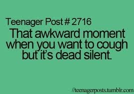 That awkward moment when...