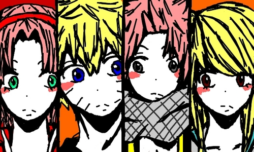 Do あなた think Natsu and Sakura match, and NARUTO -ナルト- and Lucy? (Forget about NaLu and NaruHina for a moment ^^)