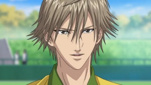 Post an anime character with light brown (silver-brown) hair.