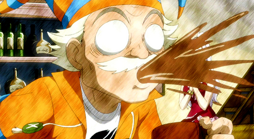 post an anime character spitting something he just drank