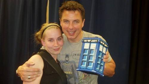 Post a picture of an actor with a fan.