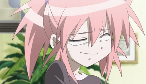 Post a character smirking