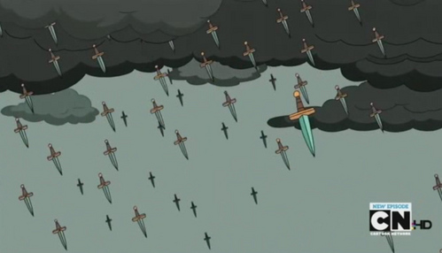 Why does it rain knives in the land of Ooo?