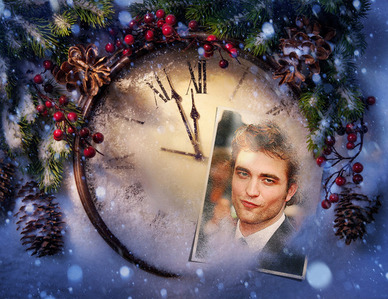 Post a picture of an actor with a clock.