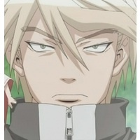 Post a character with a deadpan look (including stare) on his/her face