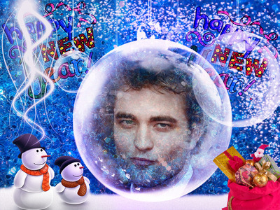 Post a picture of an actor with snowmen.